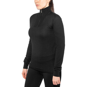 Woolpower 200 Zip Rollkragen black